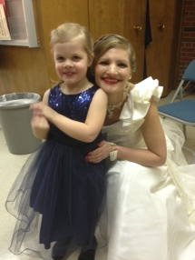 Lucia had the honor of being the flowergirl and I was a bridesmaid. Lucia did a great job! Although I guess we failed to go over 'pace' with her as she lapped the ringbearer, good friend Zeke.